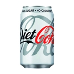 Diet Coca-Cola Soft Drink 330ml Can Pk24