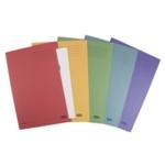 Elba Sq Cut Folder 250gsm Fs Asstd Pk25