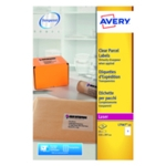 Avery L7567-25 Laser Labels Clear Pk25