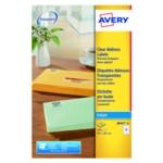 Avery J8563-25 Inkjet Labels Clear Pk350