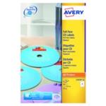 Avery CD DVD Laser Labels Face Pk50