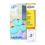 Avery Full Face CD/DVD Laser Label Pk100