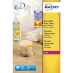 Avery L7670-25 Circle Yellow Laser Label