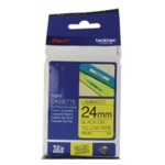 Brother Black/Yllow TZe Tape 24mm TZE651