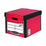 Fellowes Red/Wht Presto Storage Box Pk12