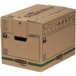 Fellowes Moving Box Small Brwn/Grn Pk5