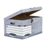 Fellowes Grey Fliptop Storage Box Pk10