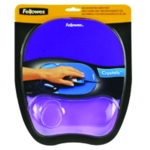 Fellowes Crystal Purple Gel Mouse Pad