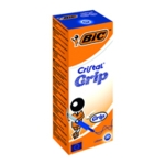 Bic Cristal Grip Ball Pen Med Blue Pk20