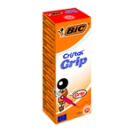 Bic Cristal Grip Ball Pen Med Red Pk20