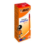 Bic Orange Fine Ballpoint Pen Red Pk20