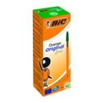 Bic Orange Fine Ballpoint Pen Green Pk20