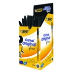 Bic Cristal Ballpoint Fine Black Pk50