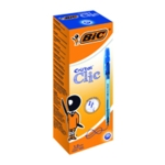 Bic Cristal Clic Retrctble Ball Pen Blue