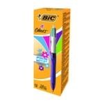 Bic 4 Colours Fashion Grip Pens Pk12