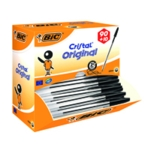 Bic Cristal Ballpoint Medium Black Pk100
