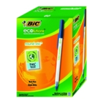 Bic Ecolutions Ball Pen Med Blue Pk60