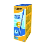 Bic Cristal Plus Gel Pen Med Blue Pk20