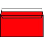 DL Envelope P Seal Pillar Box Red Pk250