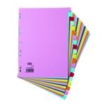 Elba 20-Part Card Divider A4 Assorted