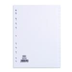 Elba 20-Part Divider 160gsm A4 White