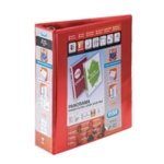 Elba Panorama 2D Lever Arch A4 Red Pk5