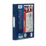 Elba Vision 4 O Ring Binder PVC A4 Blue
