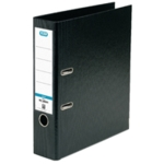 Elba 70mm Lever Arch File PVC Black A4