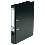 Elba 50mm Lever Arch File PVC A4 Black