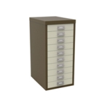 FF Bisley 10Drw Cabinet Cof Crm