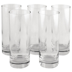 Clear Tall Tumbler Drinking Glass Pk6