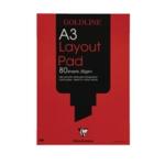 Goldline Layout Pad A3 White GPL1A3