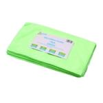 2Work Green 400mm Microfibre Cloth Pk10