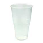 Plastic Pint Glass Clear Pk50