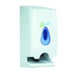 2Work Twin Toilet Roll Dispenser White
