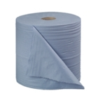 2Work 270mmx400m Blue Bumper Paper Roll