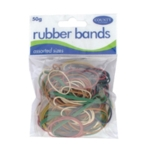 County Rubber Bands Coloured 50gm Pk12