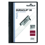 Durable 3mm Duraclip File A4 Black Pk25