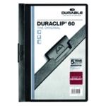 Durable 6mm Duraclip File A4 Black Pk25