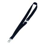 Durable Black Textile Necklace 20mm Pk10
