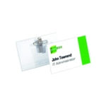 Durable Name Badge 54x90mm Clip Fastener