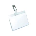 Durable Name Badge 60x90mm Clip Pk25