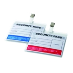 Durable Colour Coded Security Pass Pk25
