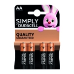 Duracell AA Simply Battery Pk4