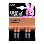 Duracell AAA Simply Battery Pk4