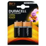 Duracell Plus Battery 9V Pk2