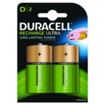 Duracell Size D Rechargeable Battery Pk2