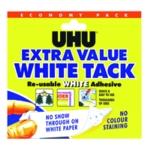 UHU White Tack Economy Pack 100g Pk6