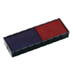 Colop E/12/2 Repl Stamp Pad Blue/Red Pk2