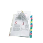 Esselte 12-Tab Index Pocket A4 Assorted